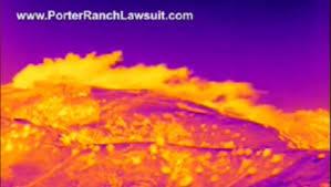 Porter Ranch gas leak in night vision