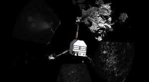 Philae on landing site