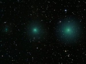 twin green comets