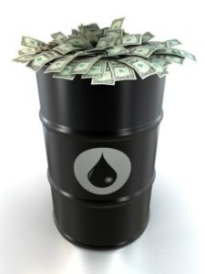Oil Drum Stuffed With Money