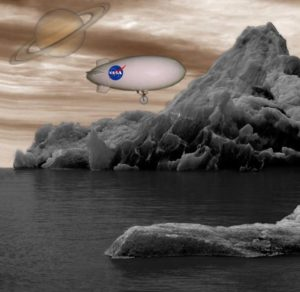 blimp and sub on titan